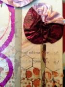 A tinfoil flower (a la Christy Tomlinson) that looks like a pansy